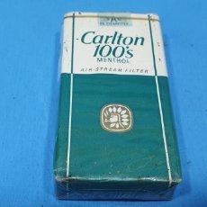 Paquetes de tabaco: PAQUETE DE TABACO - CARLTON 100'S MENTHOL - CAJETILLA DE 20 CIGARRILLOS - PRECINTADA SIN ABRIR. Lote 234301790