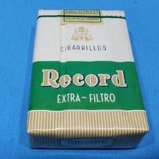 Paquetes de tabaco: PAQUETE DE TABACO - RECORD EXTRA FILTRO - CAJETILLA DE 20 CIGARRILLOS - PRECINTADA SIN ABRIR. Lote 234302225