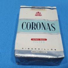 Paquetes de tabaco: PAQUETE DE TABACO - CORONAS KING SIZE - CAJETILLA DE 20 CIGARRILLOS - PRECINTADA SIN ABRIR. Lote 234303955