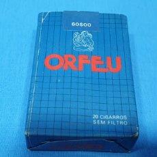 Paquetes de tabaco: PAQUETE DE TABACO - ORFEU SIN FILTRO - CAJETILLA DE 20 CIGARRILLOS - PRECINTADA SIN ABRIR. Lote 234454115