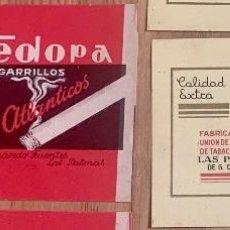 Paquets de cigarettes: CAJA TABACO CANARIO FEDORA Y UNIÓN. Lote 234470900
