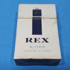 Paquetes de tabaco: PAQUETE DE TABACO - REX - CAJETILLA DE 20 CIGARRILLOS - PRECINTADA SIN ABRIR. Lote 234476370