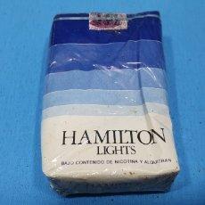 Paquetes de tabaco: PAQUETE DE TABACO - HAMILTON LIGHTS - CAJETILLA DE 20 CIGARRILLOS - PRECINTADA SIN ABRIR. Lote 234483575