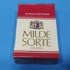 Paquetes de tabaco: PAQUETE DE TABACO - MILDE SORTE - CAJETILLA DE 20 CIGARRILLOS - PRECINTADA SIN ABRIR. Lote 234633670