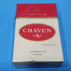 """Paquetes de tabaco: PAQUETE DE TABACO - CRAVEN """"A"""" - CAJETILLA DE 20 CIGARRILLOS - PRECINTADA SIN ABRIR. Lote 234639230"""