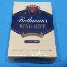 Paquetes de tabaco: PAQUETE DE TABACO - ROTHMANS KING SIZE - CAJETILLA DE 20 CIGARRILLOS - PRECINTADA SIN ABRIR. Lote 234639795