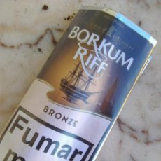 Paquetes de tabaco: BORKUM RIFF BRONZE - ESTUCHE ENVASE DE TABACO DE PIPA - ESCASO. Lote 235631950