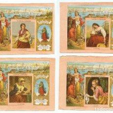 Paquetes de tabaco: 4 MARQUILLAS DE TABACO, SIGLO XIX. LA HONRADEZ, HABANA, CUBA. 10,5X14 CM. CADA UNA.. Lote 236654930