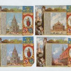 Paquetes de tabaco: 4 MARQUILLAS DE TABACO, SIGLO XIX. LA HONRADEZ, HABANA, CUBA. 8,5X12,5 CM. CADA UNA.. Lote 236655215