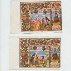 Paquetes de tabaco: 2 MARQUILLAS DE TABACO, SIGLO XIX. LA HONRADEZ, HABANA, CUBA. 10X15 CM. CADA UNA.. Lote 236655350