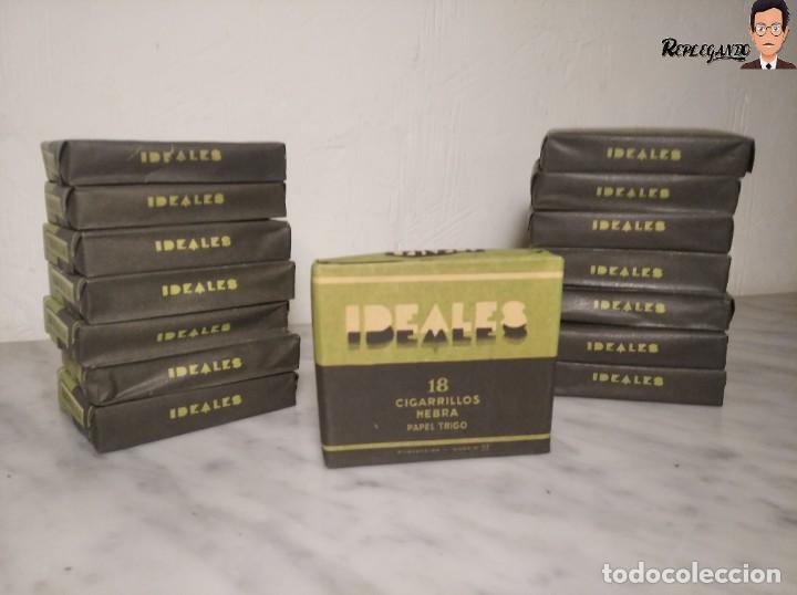 Paquetes de tabaco: 15 PAQUETES DE TABACO MARCA IDEALES - HEBRA PAPEL TRIGO - SIN ABRIR - MUY BUEN ESTADO - Foto 2 - 236936050