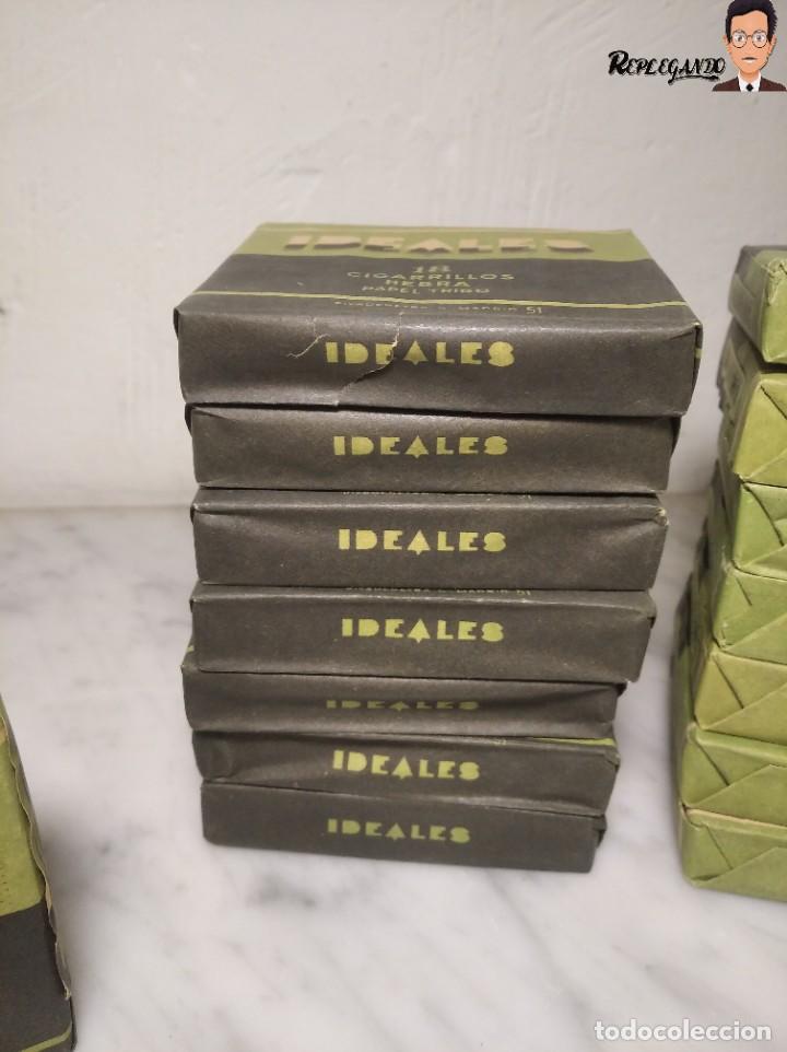 Paquetes de tabaco: 15 PAQUETES DE TABACO MARCA IDEALES - HEBRA PAPEL TRIGO - SIN ABRIR - MUY BUEN ESTADO - Foto 6 - 236936050