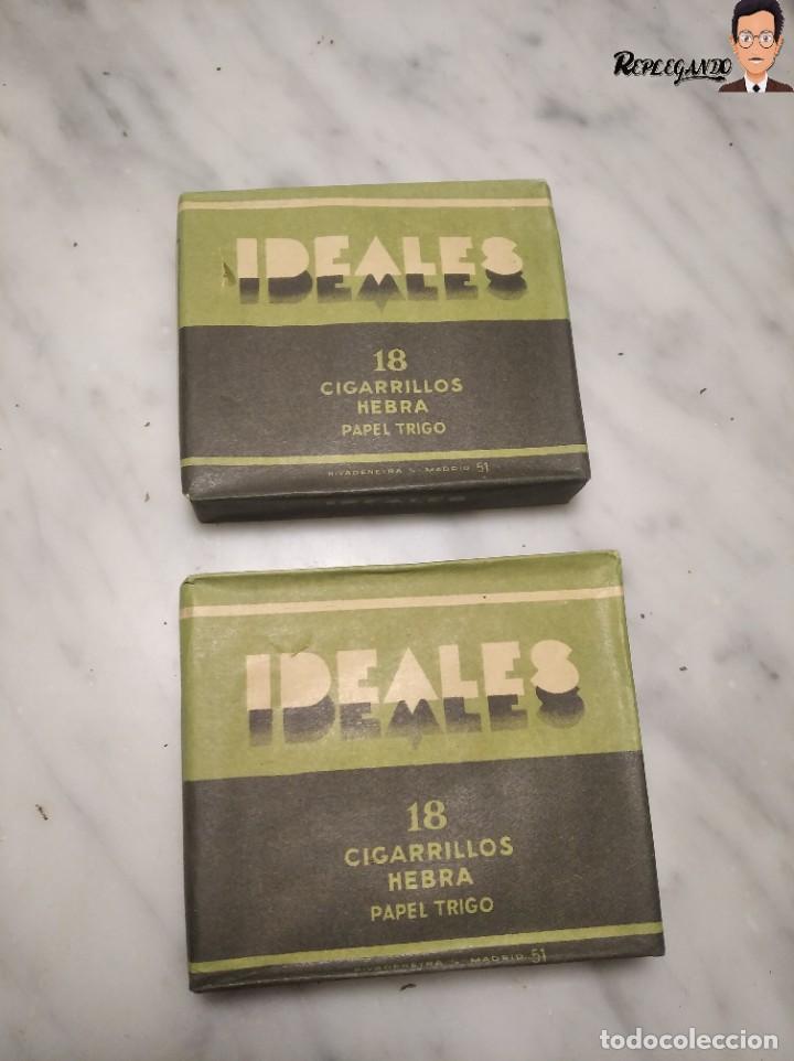 Paquetes de tabaco: 15 PAQUETES DE TABACO MARCA IDEALES - HEBRA PAPEL TRIGO - SIN ABRIR - MUY BUEN ESTADO - Foto 11 - 236936050