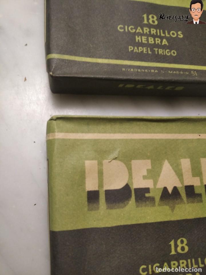 Paquetes de tabaco: 15 PAQUETES DE TABACO MARCA IDEALES - HEBRA PAPEL TRIGO - SIN ABRIR - MUY BUEN ESTADO - Foto 12 - 236936050