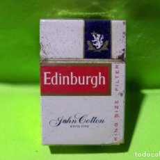 Paquetes de tabaco: ANTIGUO PAQUETE DE TABACO EDINBURGH , LONDON - EDINBURGH. Lote 238159345