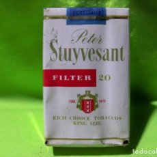 Paquetes de tabaco: ANTIGUO PAQUETE DE TABACO PETER STUYVESANT , AMERICAN CIGARETTE C.O. Lote 238159965