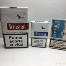 Paquetes de tabaco: DISPLAY PUBLICITARIO PAQUETES TABACO - WINSTON - FORTUNA. Lote 242263480