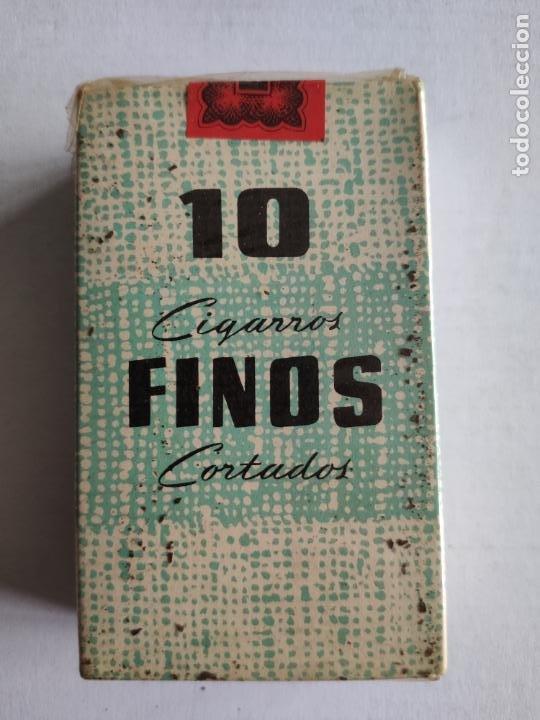 CAJETILLA DE CIGARRILLOS - 10 CIGARROS FINOS CORTADOS - TABACALERA - PRECINTADA - ESPAÑOLES (Coleccionismo - Objetos para Fumar - Paquetes de tabaco)