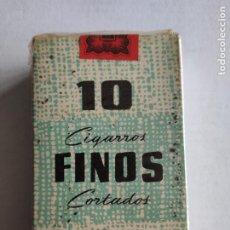 Paquetes de tabaco: CAJETILLA DE CIGARRILLOS - 10 CIGARROS FINOS CORTADOS - TABACALERA - PRECINTADA - ESPAÑOLES. Lote 243026705
