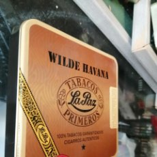 Paquetes de tabaco: WILDE HABANA LATA VACIA. Lote 243617510