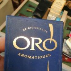 Paquetes de tabaco: CAJA ORO TABACO SEÑORITAS VACIO. Lote 243617680