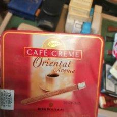Paquetes de tabaco: CAJA METALICA CAFE CREME ORIENTAL. Lote 243617920
