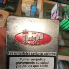 Paquetes de tabaco: CAJA METALICA CHESTREFIELD. Lote 243618105