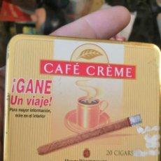 Paquetes de tabaco: CAJA METALICA CAFE CREME. Lote 243618635