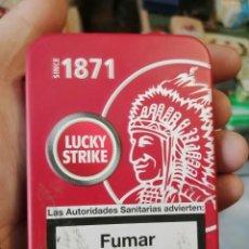 Paquetes de tabaco: CAJA METALICA LUCKY STRIKE. Lote 243618735