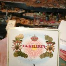 Paquetes de tabaco: CAJA PUROS LA BELLEZA 10 SUPER REDONDOS PUROS. Lote 243618915