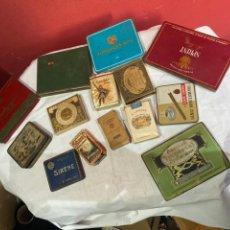 Paquetes de tabaco: LOTE PAQUETES Y LATAS TABACO ANTIGUAS . VER FOTOS. Lote 244022285