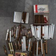 Paquetes de tabaco: 77 PUROS 1 CAJETILLA DE CIGARROS FINOS DE LUJO. Lote 244185480