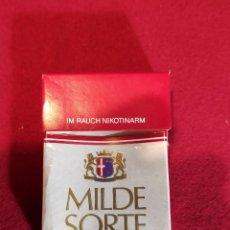 Paquetes de tabaco: MILDE SORTE - VACIO - CARTON. Lote 244778190