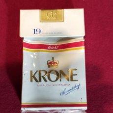 Paquetes de tabaco: KRONE - VACIO - CARTON. Lote 244780650