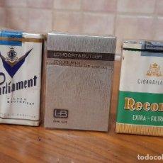 Paquetes de tabaco: 3 PAQUETES ANTIGUOS CON TABACO, SIN ABRIR. Lote 245128190