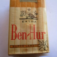 Paquetes de tabaco: BEN - HUR . PAQUETE DE TABACO MUY ANTIGUO EN PERFECTO ESTADO DE CONSERVACION. Lote 246457060