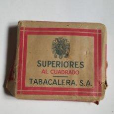 Paquetes de tabaco: SUPERIORES AL CUADRADO ANTIGUA CAJETILLA DE CIGARRILLOS. Lote 246486775