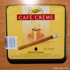 Paquetes de tabaco: CAJA METÁLICA PITILLERA - CIGARRILLOS CAFÉ CRÈME - HENRI WINTERMANS - VACÍA. Lote 246742070