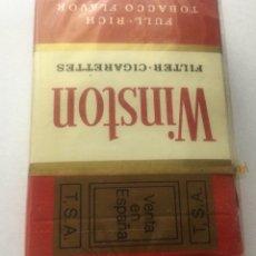 Paquetes de tabaco: ANTIGUO PAQUETE TABACO WINSTON T S A ESPAÑA BLEND OF U.S.A. PRECINTADO ORIGEN. Lote 252627850