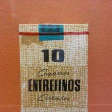 Paquetes de tabaco: PAQUETE DE TABACO. 10 CIGARROS ENTREFINOS CORTADOS. ELABORACIÓN ESPAÑOLA. Lote 254141595