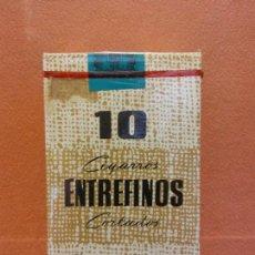 Paquetes de tabaco: PAQUETE DE TABACO. 10 CIGARROS ENTREFINOS CORTADOS. ELABORACIÓN ESPAÑOLA. Lote 254141705