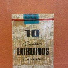 Paquetes de tabaco: PAQUETE DE TABACO. 10 CIGARROS ENTREFINOS CORTADOS. ELABORACIÓN ESPAÑOLA. Lote 254141715