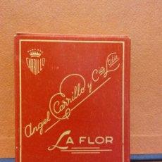 Paquets de cigarettes: PAQUETE DE TABACO. ANGEL CARRILLO Y CIA LTDA. LA FLOR. 16 CIGARRILLOS REDONDOS. Lote 254142665