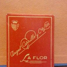 Paquets de cigarettes: PAQUETE DE TABACO. ANGEL CARRILLO Y CIA LTDA. LA FLOR. 16 CIGARRILLOS REDONDOS. Lote 254142810
