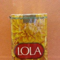 Paquets de cigarettes: PAQUETE DE TABACO. LOLA. 20 CIGARRILLOS RUBIOS - FILTRO. TABACALERA S.A.. Lote 254143265