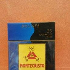 Paquetes de tabaco: PAQUETE DE TABACOS MONTECRISTO. BRUNES. CONTIENE 9 CIGARRILLOS FILTRO.. Lote 254150165