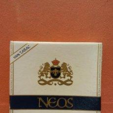 Paquetes de tabaco: CAJA DE TABACOS. NEOS EXTRA FINS. LÉGERS. NO CONTIENE TABACO. Lote 254152890