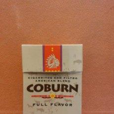Paquetes de tabaco: CAJA DE TABACOS. COBURN. FULL FLAVOR. NO CONTIENE TABACO. Lote 254153375
