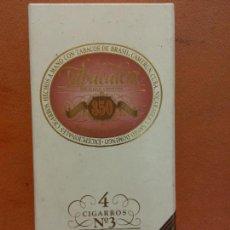 Paquetes de tabaco: CAJA DE TABACOS. TABACALERA 350 FLOR FINA. ELABORACIÓN ESPECIAL. NO CONTIENE TABACO. Lote 254153805