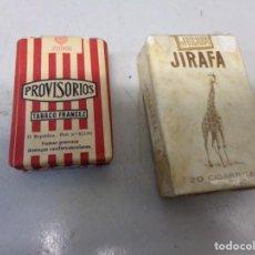 Paquetes de tabaco: DOS PAQUETES DE TABACO JIRAFA Y PROVISORIOS TODAVIA CERRADOS CON CU PRECINTO. Lote 254313465